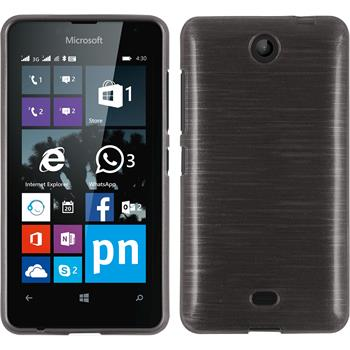 Silicone Case for Microsoft Lumia 430 Dual brushed silver