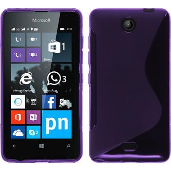 Silicone Case for Microsoft Lumia 430 Dual S-Style purple