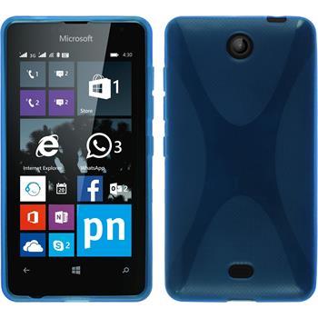 Silicone Case for Microsoft Lumia 430 Dual X-Style blue