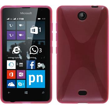 Silicone Case for Microsoft Lumia 430 Dual X-Style hot pink