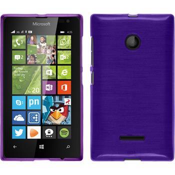 Silicone Case for Microsoft Lumia 435 brushed purple