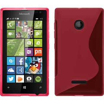 Silicone Case for Microsoft Lumia 435 S-Style hot pink