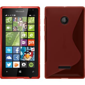 Silicone Case for Microsoft Lumia 435 S-Style red