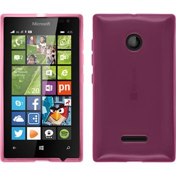 Silicone Case for Microsoft Lumia 435 transparent pink