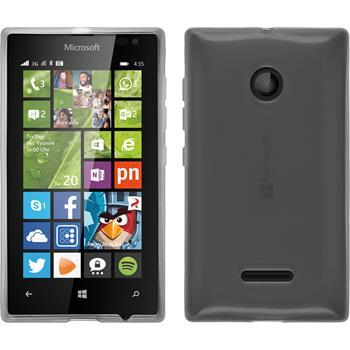 Silicone Case for Microsoft Lumia 435 transparent white