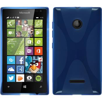 Silicone Case for Microsoft Lumia 435 X-Style blue