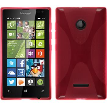 Silicone Case for Microsoft Lumia 435 X-Style hot pink
