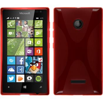 Silicone Case for Microsoft Lumia 435 X-Style red