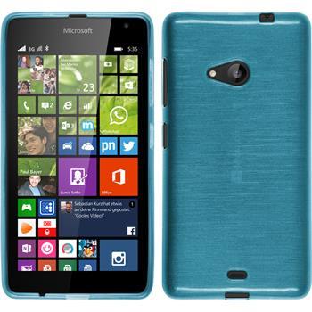 Silicone Case for Microsoft Lumia 535 brushed blue