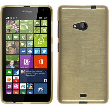 Silicone Case for Microsoft Lumia 535 brushed gold