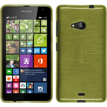 Silicone Case for Microsoft Lumia 535 brushed pastel green