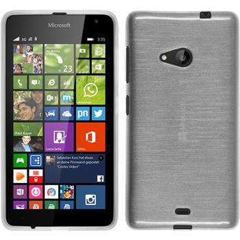 Silicone Case for Microsoft Lumia 535 brushed white