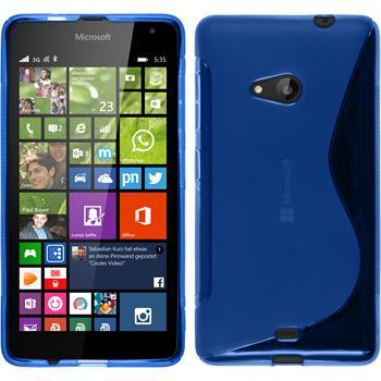 Silicone Case for Microsoft Lumia 535 S-Style blue