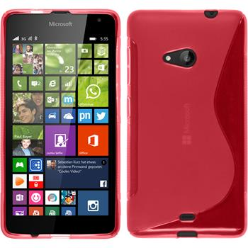 Silicone Case for Microsoft Lumia 535 S-Style hot pink