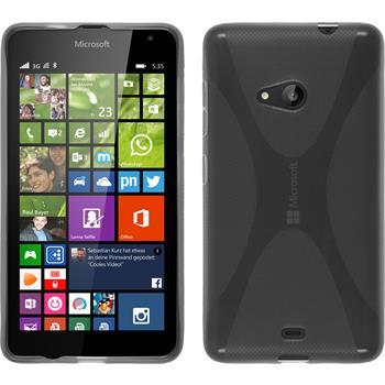 Silicone Case for Microsoft Lumia 535 X-Style gray