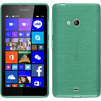 Silicone Case for Microsoft Lumia 540 Dual brushed green