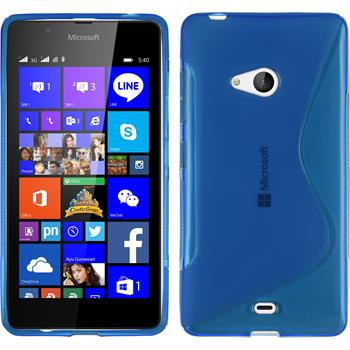 Silicone Case for Microsoft Lumia 540 Dual S-Style blue