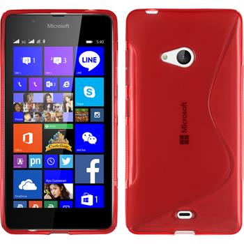 Silicone Case for Microsoft Lumia 540 Dual S-Style red