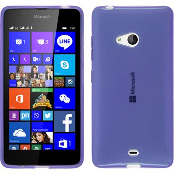 Silicone Case for Microsoft Lumia 540 Dual transparent purple