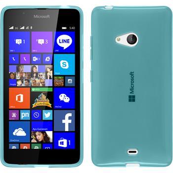 Silicone Case for Microsoft Lumia 540 Dual transparent turquoise