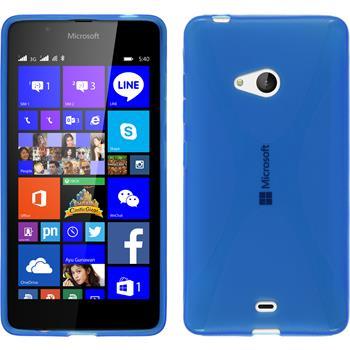Silicone Case for Microsoft Lumia 540 Dual X-Style blue