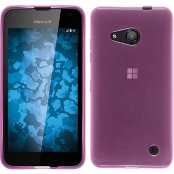 Silicone Case for Microsoft Lumia 550 transparent pink