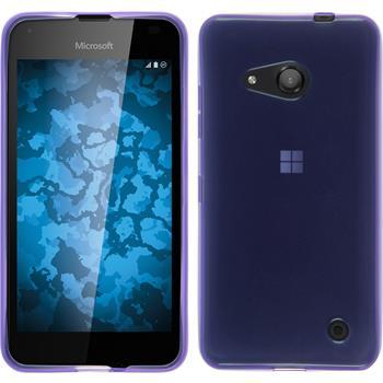 Silicone Case for Microsoft Lumia 550 transparent purple