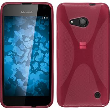 Silicone Case for Microsoft Lumia 550 X-Style hot pink