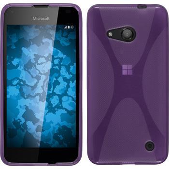 Silicone Case for Microsoft Lumia 550 X-Style purple