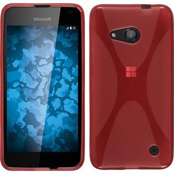Silicone Case for Microsoft Lumia 550 X-Style red