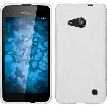 Silicone Case for Microsoft Lumia 550 X-Style white