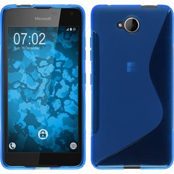 Silicone Case for Microsoft Lumia 650 S-Style blue