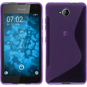 Silicone Case for Microsoft Lumia 650 S-Style purple