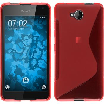 Silicone Case for Microsoft Lumia 650 S-Style red
