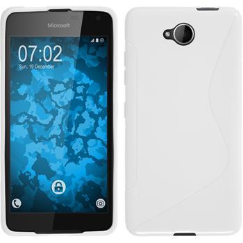 Silicone Case for Microsoft Lumia 650 S-Style white