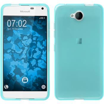 Silicone Case for Microsoft Lumia 650 transparent turquoise