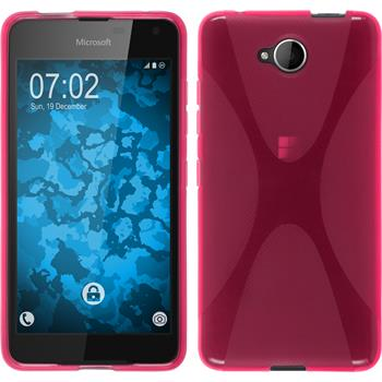 Silicone Case for Microsoft Lumia 650 X-Style hot pink