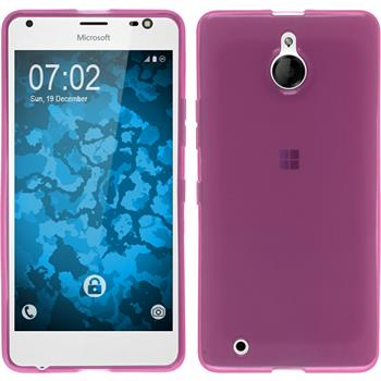 Silicone Case for Microsoft Lumia 850 transparent pink