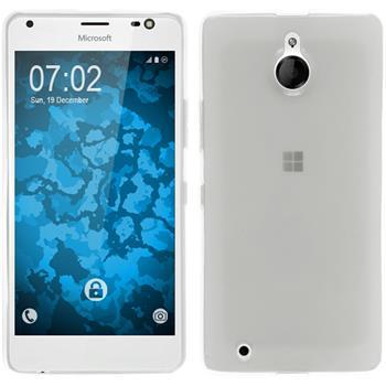 Silicone Case for Microsoft Lumia 850 transparent white