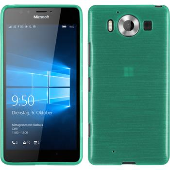 Silicone Case for Microsoft Lumia 950 brushed green