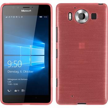 Silicone Case for Microsoft Lumia 950 brushed pink