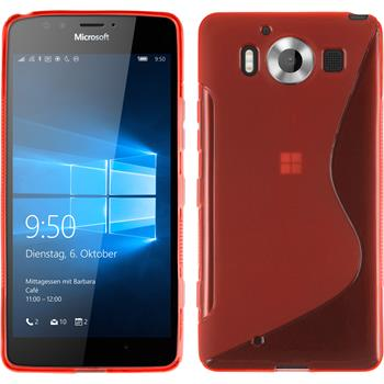 Silicone Case for Microsoft Lumia 950 S-Style red