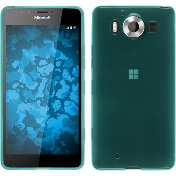 Silicone Case for Microsoft Lumia 950 transparent turquoise