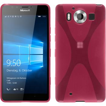 Silicone Case for Microsoft Lumia 950 X-Style hot pink