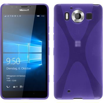 Silicone Case for Microsoft Lumia 950 X-Style purple