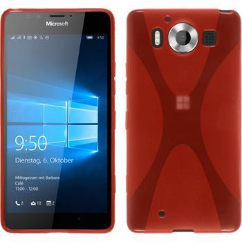 Silicone Case for Microsoft Lumia 950 X-Style red