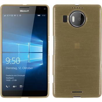 Silicone Case for Microsoft Lumia 950 XL brushed gold