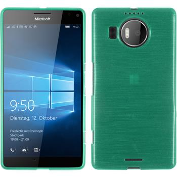 Silicone Case for Microsoft Lumia 950 XL brushed green