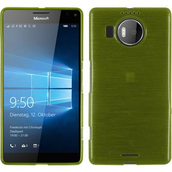 Silicone Case for Microsoft Lumia 950 XL brushed pastel green