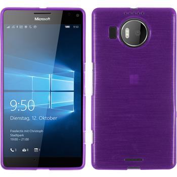 Silicone Case for Microsoft Lumia 950 XL brushed purple